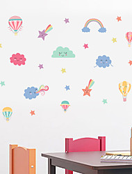 cheap -Decorative Wall Stickers - Plane Wall Stickers Stars Sun Cloud  Nursery / Kids Room 22*60cm