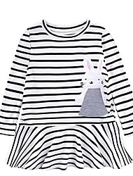 cheap -Kids Girls' Striped Dress Black
