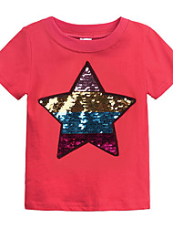 cheap -Kids Girls' Basic Solid Colored Short Sleeve Cotton Tee Black