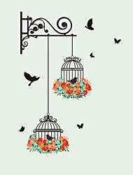Недорогие -Новый птичья клетка цветок летит для гостиной детская комната наклейки на стены виниловые наклейки на стены стикер стены для детской комнаты домашнего декора