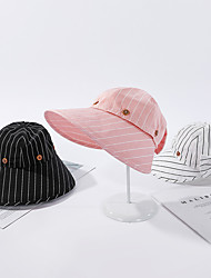 cheap -Women's Active Basic Cute Lace Floppy Hat Sun Hat-Striped Solid Colored Spring Summer Black White Blushing Pink