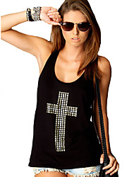 cheap -Women's Plus Size Graphic Tank Top Holiday Going out Black