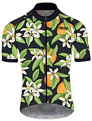 Недорогие -21Grams Муж. С короткими рукавами Велокофты Спандекс Полиэстер Зеленый / черный Фрукты Лимонный Велоспорт Джерси Верхняя часть Горные велосипеды Шоссейные велосипеды / Эластичная / Устойчивость к УФ