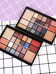 abordables -22 couleurs Fards à Paupières Mat Maquillage Le fard à paupières Visage Facile à transporter Homme Meilleure qualité Pro Ultra léger (UL) Girlfriend cadeaux Sécurité Pratique Maquillage Quotidien