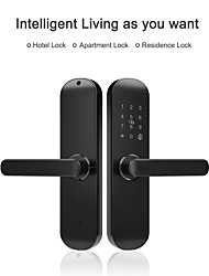 cheap -RSH Factory Wholesale Hotel Apartment Smart Door Lock Mobile APP Remote Password Card Electronic Lock