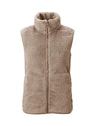 cheap -Women's Hiking Fleece Vest Winter Outdoor Windproof Fleece Lining Warm Comfortable Vest / Gilet Jacket Top Fleece Single Slider Climbing Camping / Hiking / Caving Winter Sports Black / White