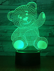 cheap -Black background / cross-border selling new and strange bears / 3d night light led smart sensor / night light creative / home usb table lamp customization