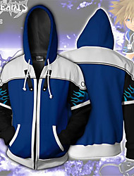 cheap -Kingdom Hearts Cosplay Cosplay Costume Hoodie Polyster Print Hoodie For Men's / Women's