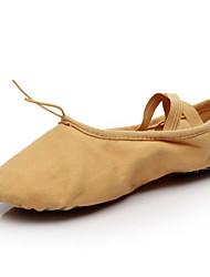 cheap -Women's Ballet Shoes Satin Flat Flat Heel Dance Shoes Camel