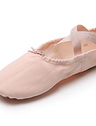 cheap -Women's Ballet Shoes / Ballroom Shoes Canvas Elastic Band Flat Splicing Flat Heel Dance Shoes Brown / Camel