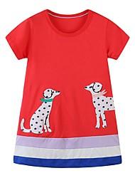 cheap -Kids Girls' Animal Dress Red