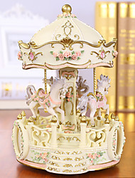 cheap -Music Box Carousel Music Box Classic Unique Resin Women's Unisex Girls' Kid's Adults Kids Adults' Graduation Gifts Toy Gift