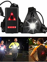 cheap -Running Warning Light/LED Chest Light/Safety Light USB Rechargeable Plastic for Running/Camping/Hiking