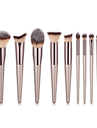 cheap -Miyaup Champagne gold characteristic makeup brush fashion powder brush beauty tool brush travel easy to carry cosmetics brush