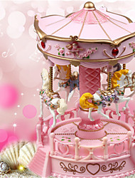 cheap -Music Box Carousel Music Box Novelty Holiday Retro Creative Unique Resin ABS+PC Women's All Girls' Kid's Adults Child's 1 pcs Graduation Gifts Toy Gift