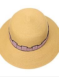 Недорогие -Жен. Классический Шляпа от солнца Солома,Однотонный Розовый Хаки