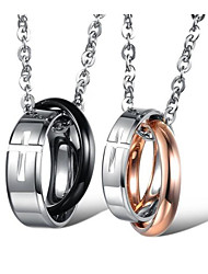 cheap -Men's Women's Pendant Necklace Classic Blessed Fashion Titanium Steel Silver Coffee 50 cm Necklace Jewelry 1 Piece For Party Daily Wear