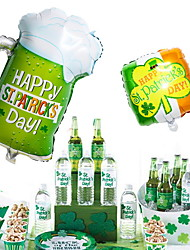 cheap -Irish Pub ST Patrick's Day Balloon Decoration Lucky Clover Bottle Up Beer 1PC
