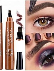 cheap -Four Heads Liquid Eyebrow Pencil Black Brown Waterproof Lasting Color Fade Eyebrow Makeup Cosmetics