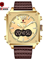 cheap -KADEMAN Quartz Watch Dual Display Square Wristwatch Support Waterproof