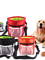 cheap -Pets Treat Pouch Bag Portable Mini Durable Solid Colored Fashion Oxford Cloth Black Red Gray