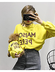 cheap -Dog Sweatshirt Matching Outfits Simple Style Casual / Sporty Sports Casual / Daily Winter Dog Clothes Breathable White Black Yellow Costume Cotton Women M XS S M L XL