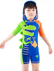 Недорогие -Дети Дети (1-4 лет) Мальчики Активный Классический Динозавр Геометрический принт С принтом Рукав до локтя Купальник Синий