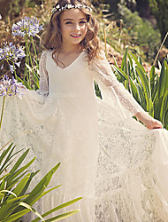 cheap -Princess Flower Girl Dress Girls' Movie Cosplay Cosplay Vacation Dress Halloween Ivory Dress Halloween Carnival Masquerade Tulle Polyester