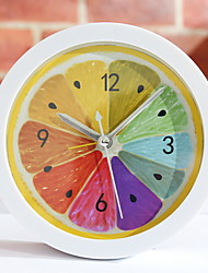 cheap -Analog Alarm clock Rainbow Plastics CR2032 Battery Simple Wake Up Clock