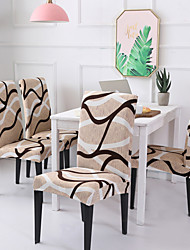 cheap -Chair Cover Striped / Print / Contemporary Printed Polyester Slipcovers