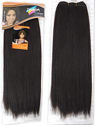 Недорогие -Прямой Волнистый Уход за волосами Аксессуары для костюмов Волосы Уток с закрытием Нейтральный Искусственные волосы косы Волосы для кос 1 шт.