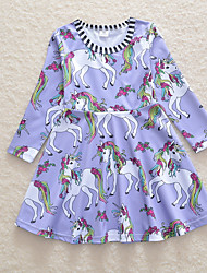 cheap -Kids Girls' Floral Dress Purple