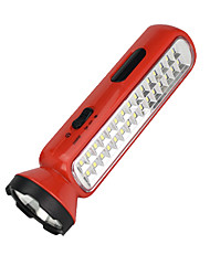 cheap -LED Flashlights / Torch 100 lm LED LED 30 Emitters Portable Camping / Hiking / Caving Everyday Use Cycling / Bike Yellow Red
