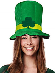 cheap -Irish shamrock velvet hat party hat st. Patrick's day high hat magic hat stage performance hat