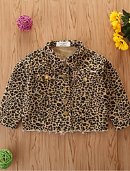cheap -Baby Girls' Basic Leopard Regular Suit & Blazer Yellow