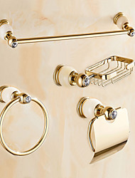 cheap -Bathroom Accessory Set Contemporary Brass Wall Mounted