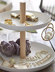 cheap -Round Jewelry Displays - Wooden White 16.3 cm 16.3 cm 14.5 cm / Women's