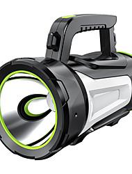 Недорогие -Ручные фонарики 500 lm Светодиодная лампа LED 1 излучатели с зарядным устройством Портативные Походы / туризм / спелеология Повседневное использование Велосипедный спорт Черный