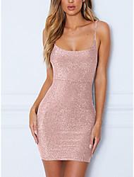 cheap -Female Wine Blushing Pink Dress Sheath Fashion S M Skinny