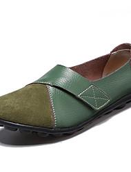 cheap -Women's Flats Flat Heel Round Toe PU Sweet / Minimalism Spring & Summer Black / Dark Brown / White / Color Block