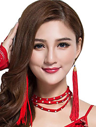cheap -Women's Dancer Belly Dance Oriental Metal Black Big red White Earring