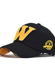 cheap -Men's Unisex Active Basic Cotton Baseball Cap-Color Block Solid Colored All Seasons Black Wine Yellow
