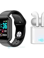 Недорогие -m9 smartwatch bluetooth фитнес-трекер для телефонов Apple / Samsung / Android поддерживает монитор сердечного ритма / уведомить, с двумя беспроводными наушниками