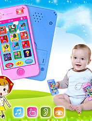 cheap -HS-1725 Toy Phone Educational Toy Learning Pad Y-phone Touch Screen Rechargeable Cool Simulation Parent-Child Interaction Music & Light with Screen Kid's Child's All 1 pcs Toy Gift