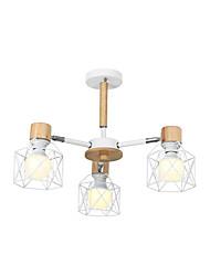 cheap -3-Light Lantern Pendant Light Downlight Painted Finishes Metal New Design, Chandeliers Lantern Desgin 110-120V / 220-240V