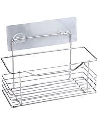 Недорогие -Стеллаж для хранения сильной вязкости клей корзина для ванной комнаты стеллаж для хранения принадлежностей для ванной комнаты держатели для посуды подвесные корзины без сверления нержавеющая