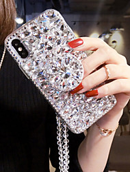 cheap -Case For Apple iPhone 12 / iPhone 12 Mini / iPhone 12 Pro Max Rhinestone Back Cover Solid Colored Textile