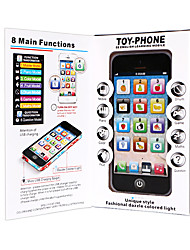 cheap -HS-WS2922A Toy Phone Educational Toy Learning Pad Y-phone Touch Screen Rechargeable Cool Simulation Parent-Child Interaction Music & Light with Screen Kid's Child's All 1 pcs Toy Gift