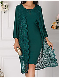 cheap -3/4 Length Sleeve Chiffon / Lace Wedding Women's Wrap With Lace / Split Joint Coats / Jackets