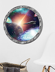 cheap -Cosmic Space Wall Sticker Galaxy Star Bridge Home Decoration for Kids Room Living Room Wall Decals Home Decor / Toilet Seat Wall Sticker Art Bathroom Decals Decor
